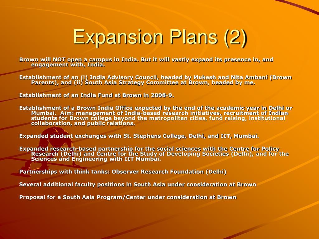 Expansion Plans (2)