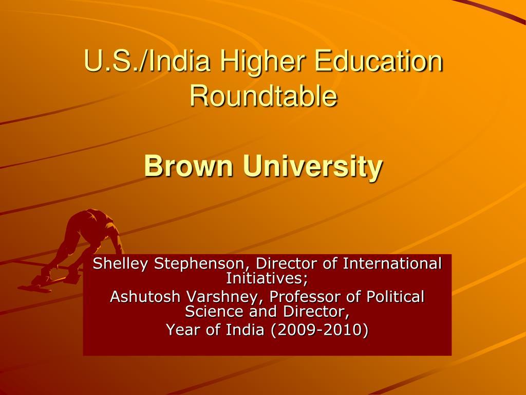 U.S./India Higher Education Roundtable