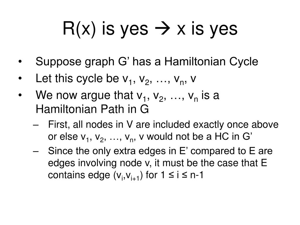 R(x) is yes