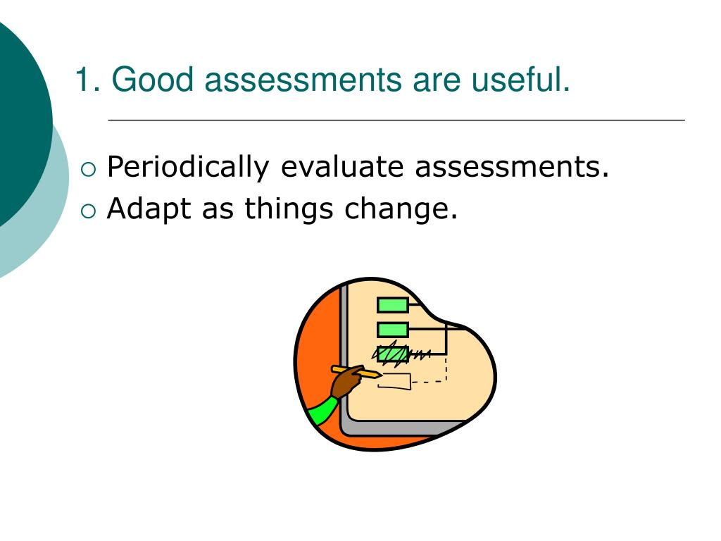 1. Good assessments are useful.