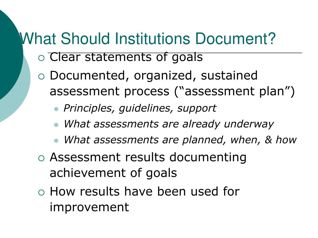 What Should Institutions Document?