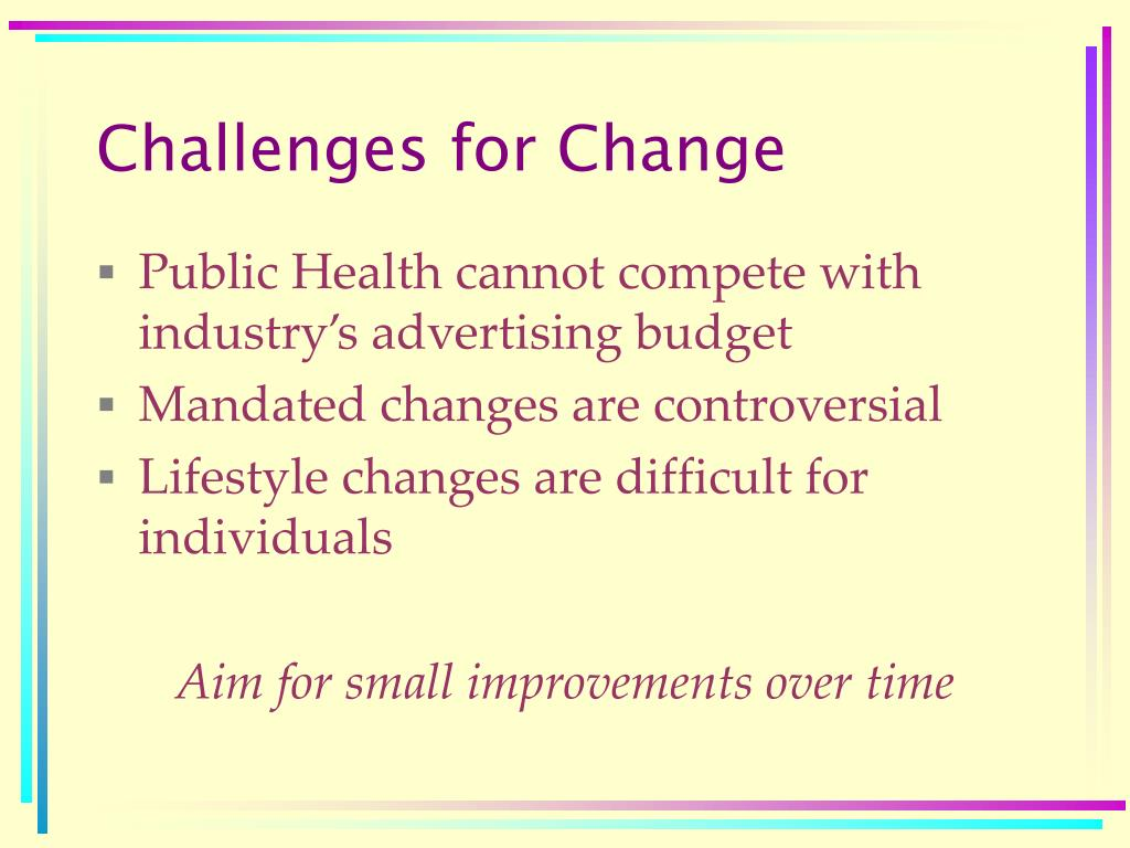 Challenges for Change