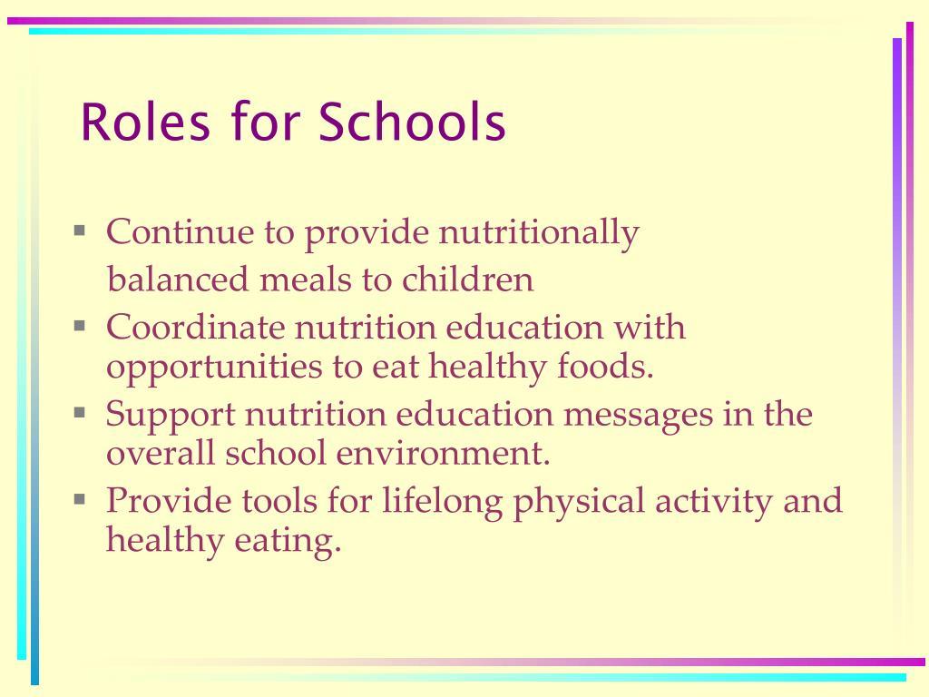 Roles for Schools