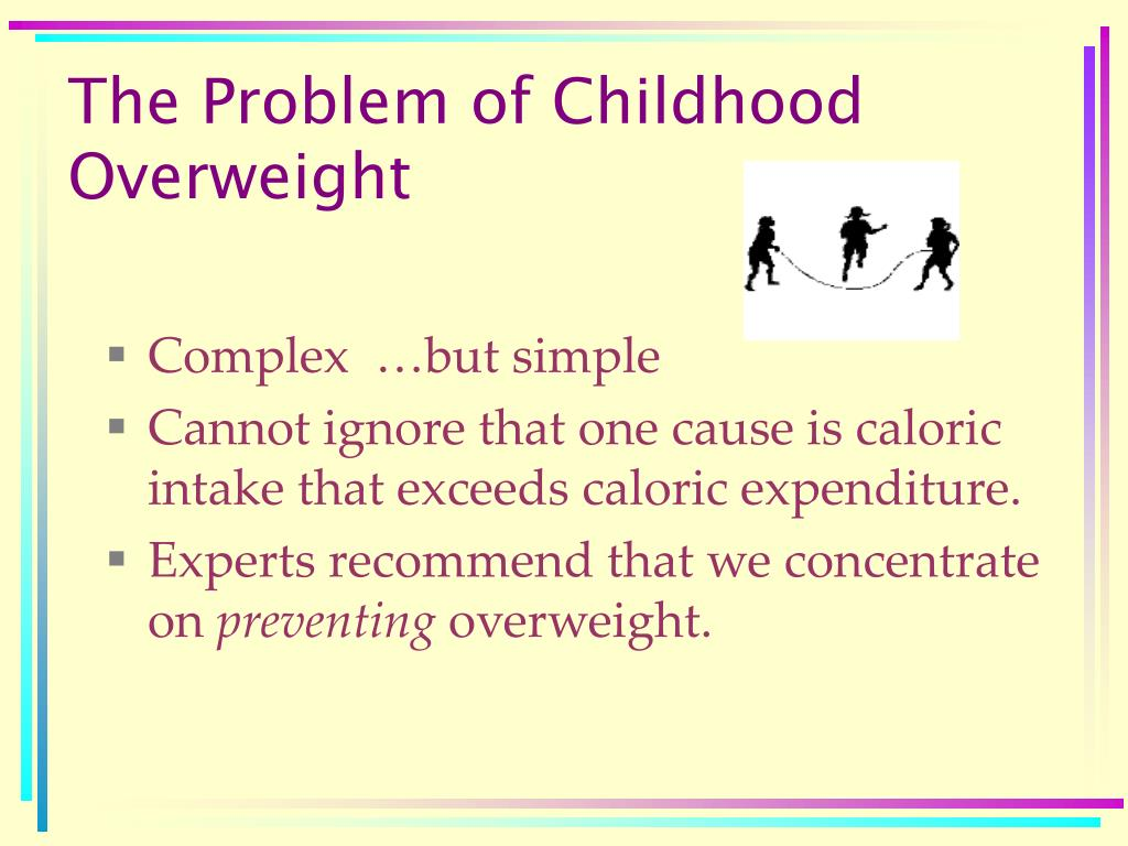 The Problem of Childhood Overweight