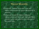 warrior mentality