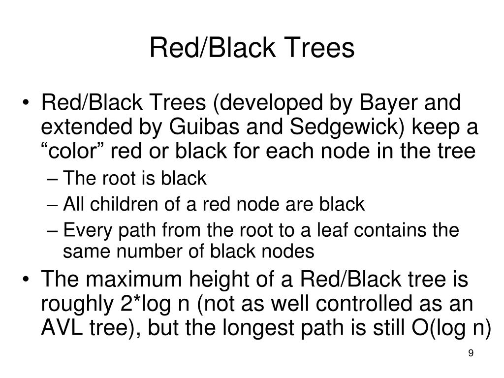 Red/Black Trees