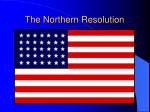 the northern resolution