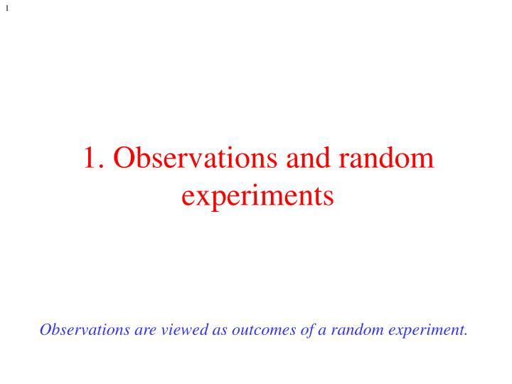 1 observations and random experiments