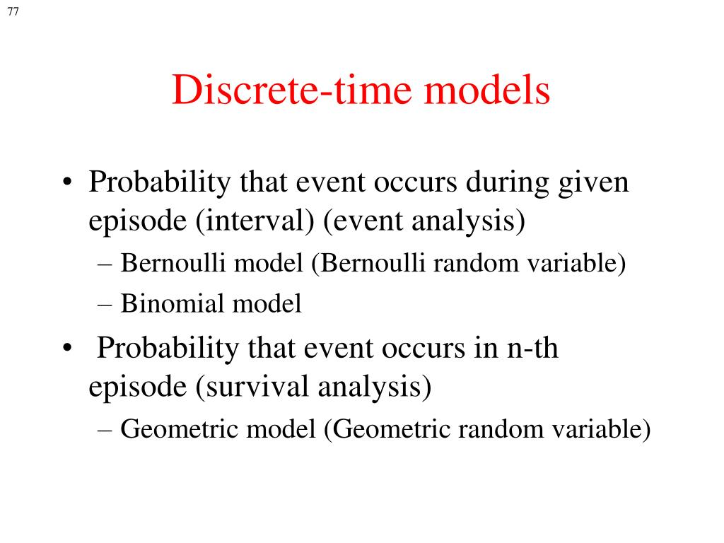 Discrete-time models