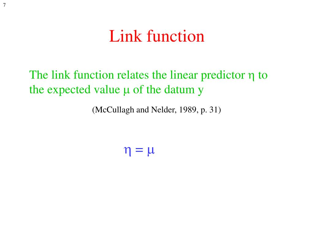 Link function