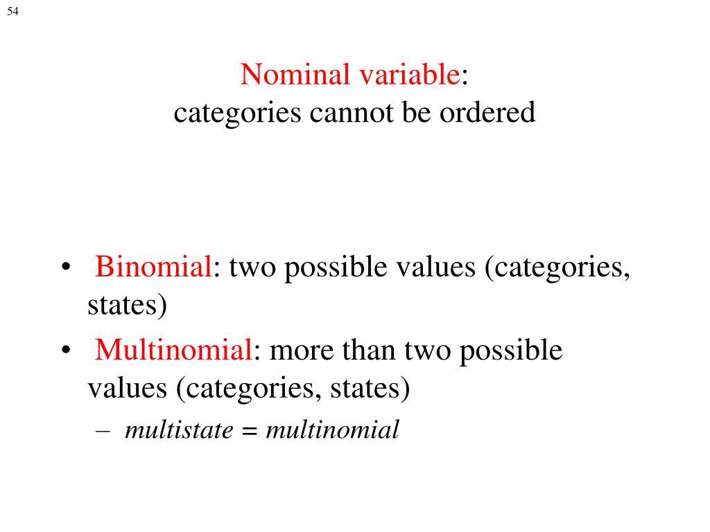 Nominal variable