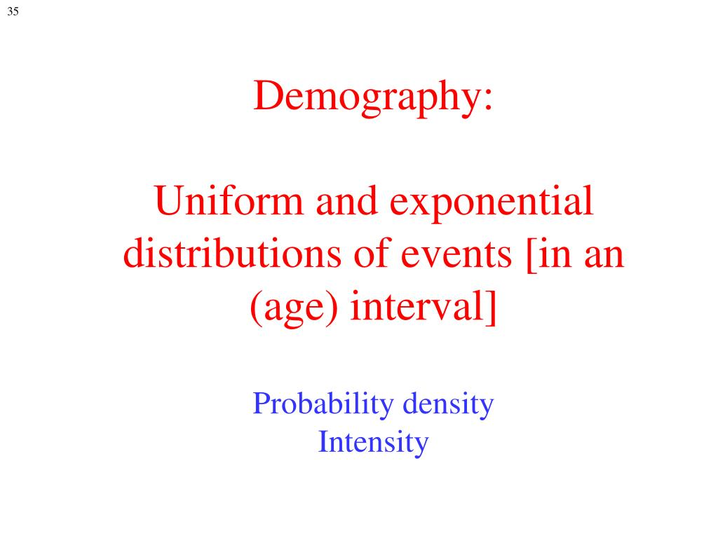 Demography: