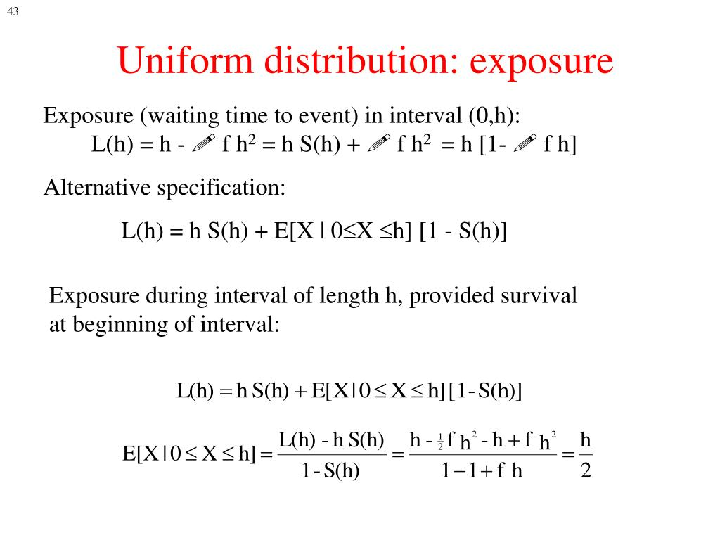 Uniform distribution: exposure