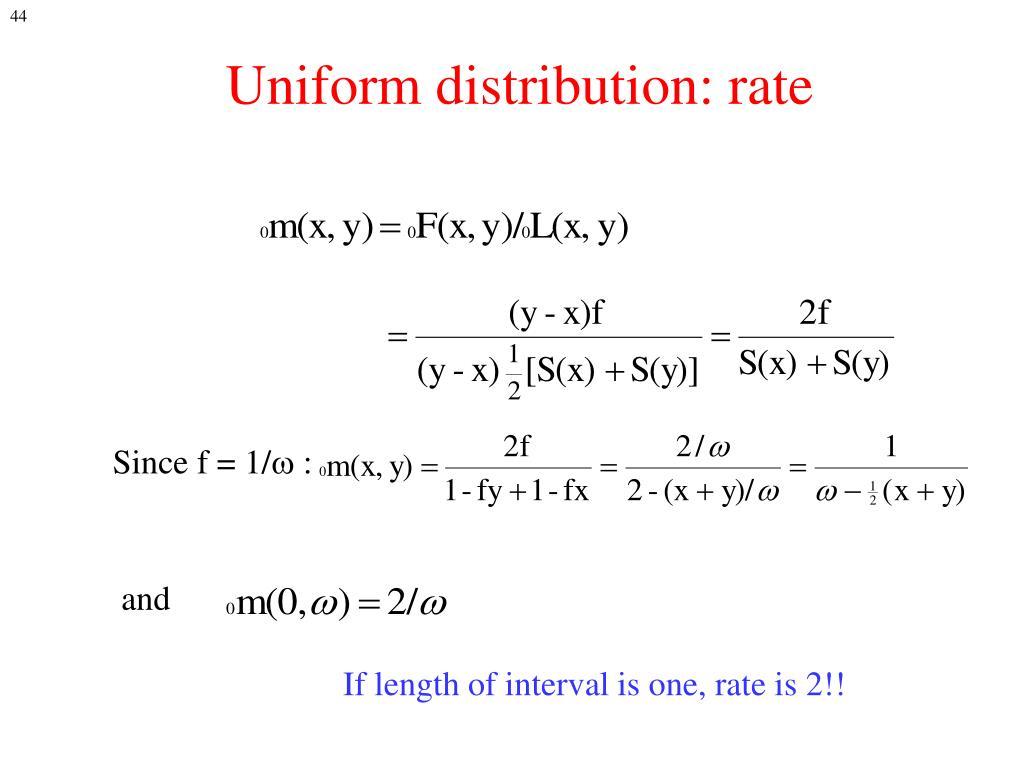 Uniform distribution: rate