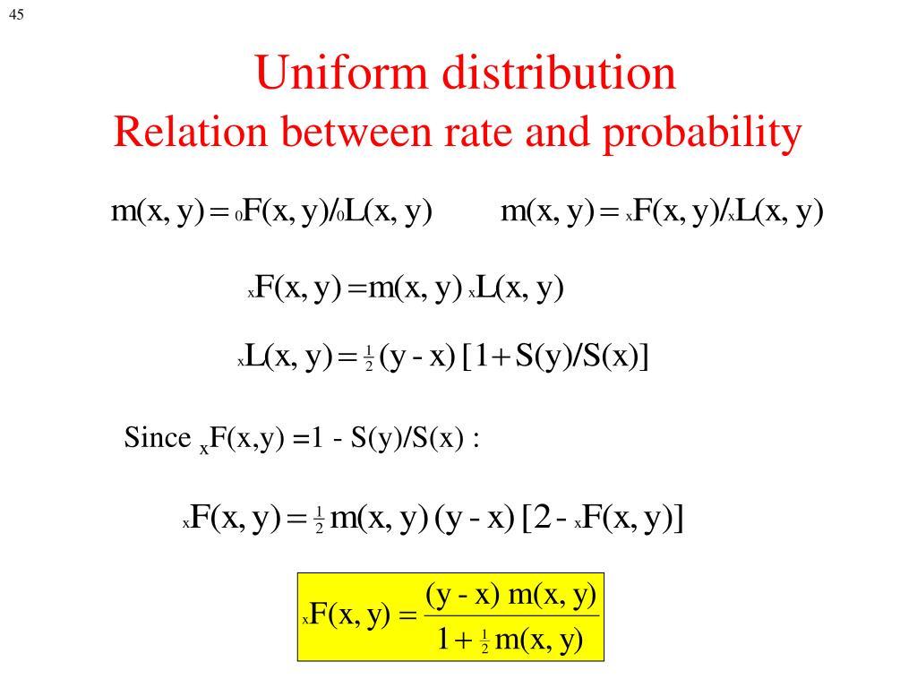 Uniform distribution
