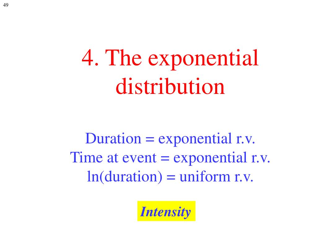 4. The exponential