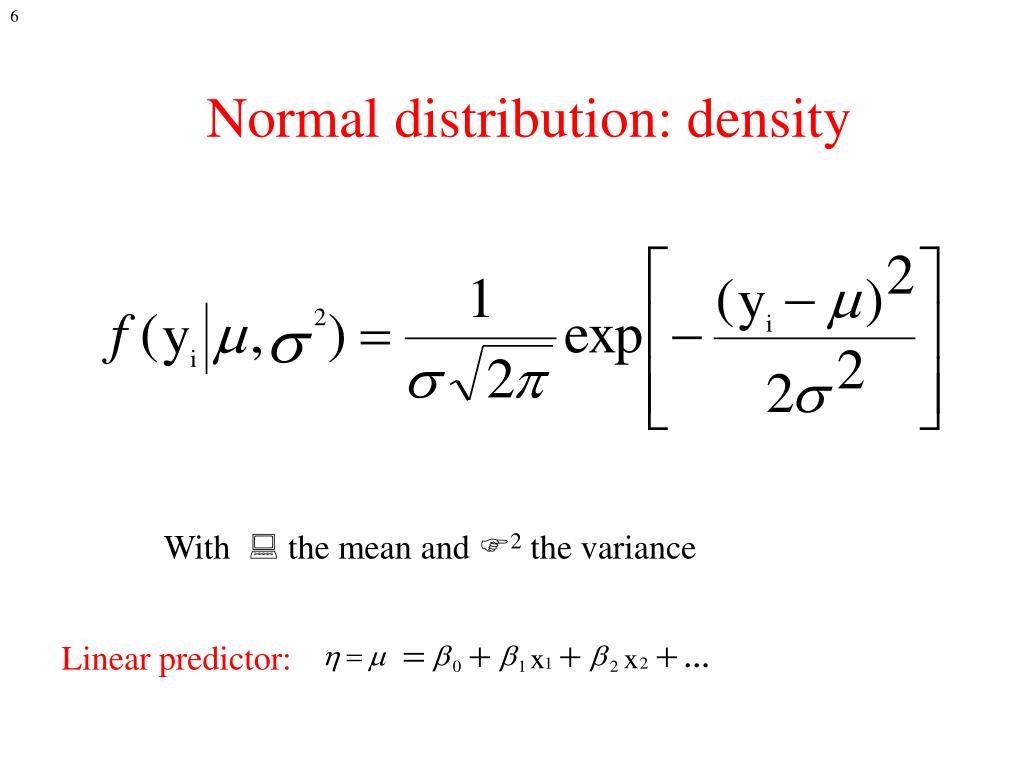 Normal distribution: density