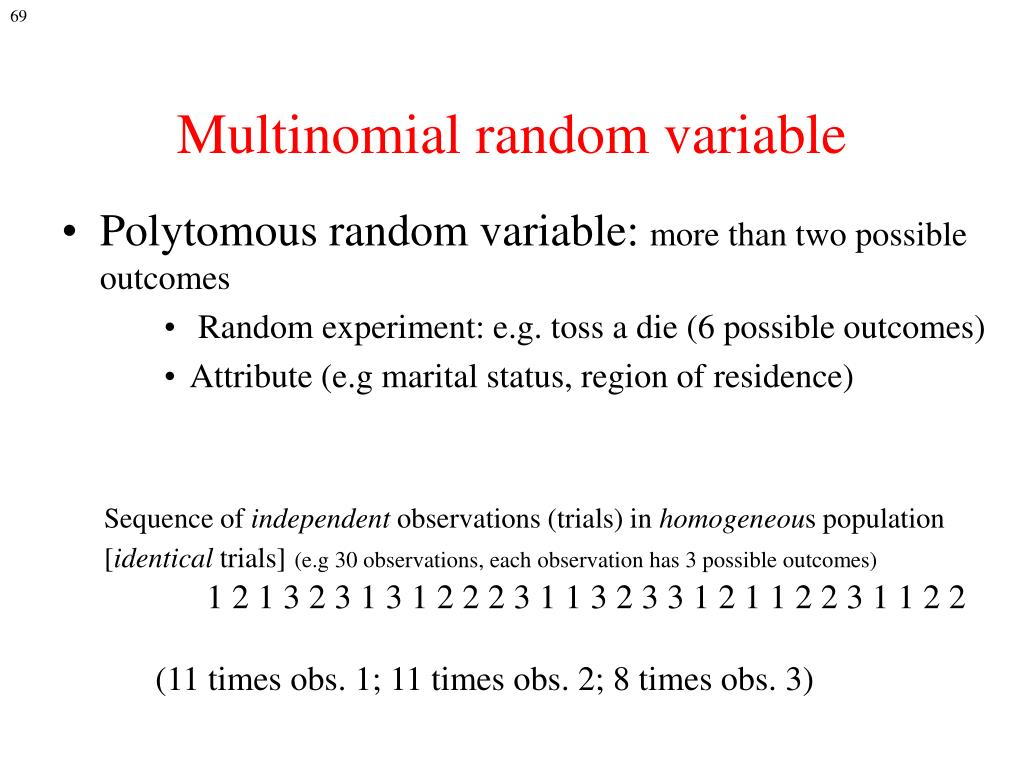 Multinomial random variable
