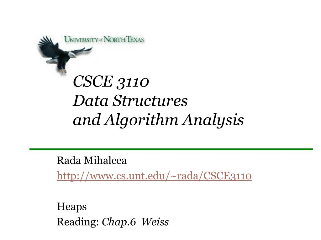 csce 3110 data structures and algorithm analysis l.