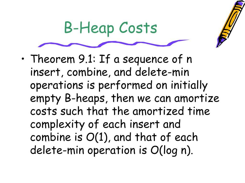 B-Heap Costs