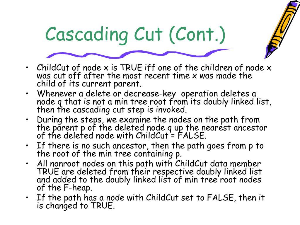 Cascading Cut (Cont.)