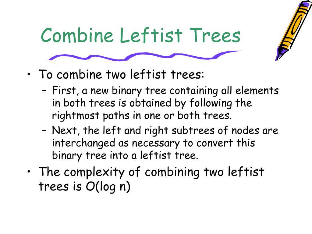 Combine Leftist Trees