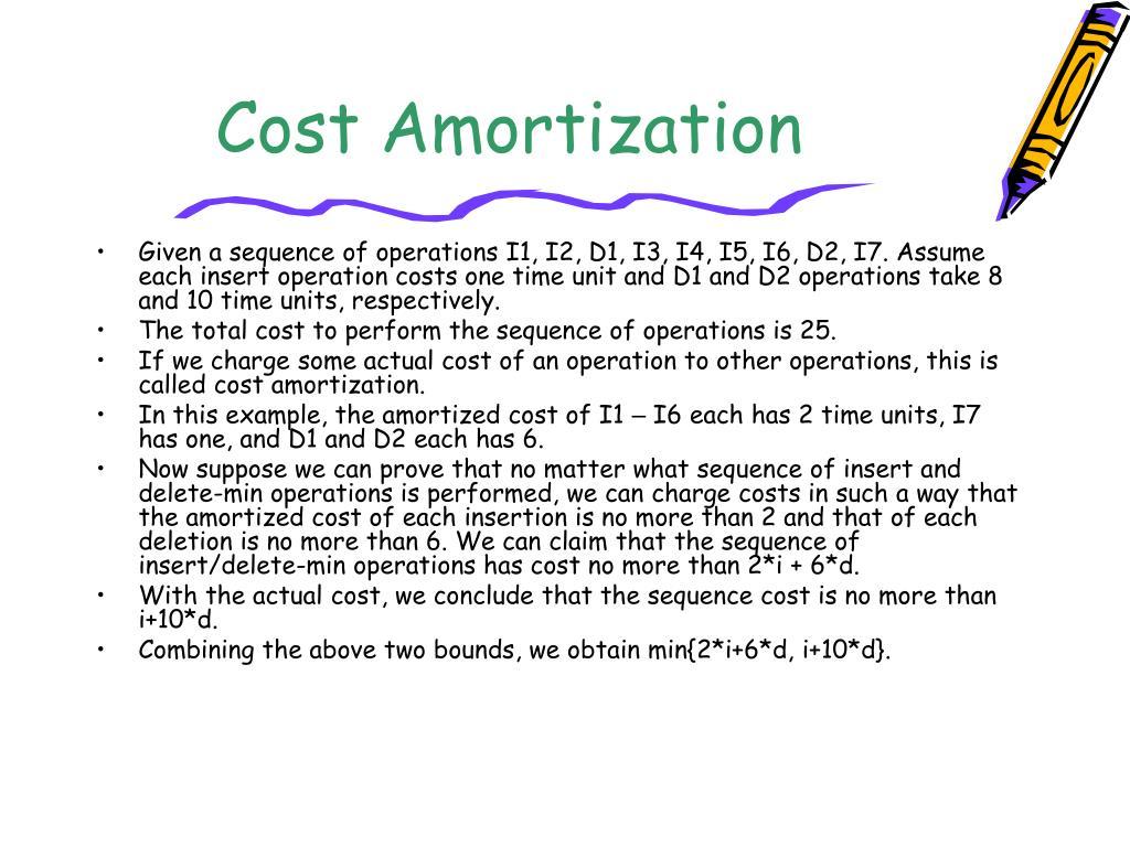 Cost Amortization