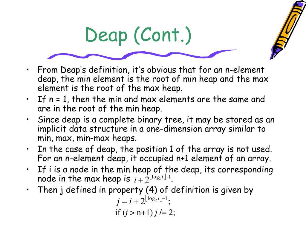 Deap (Cont.)