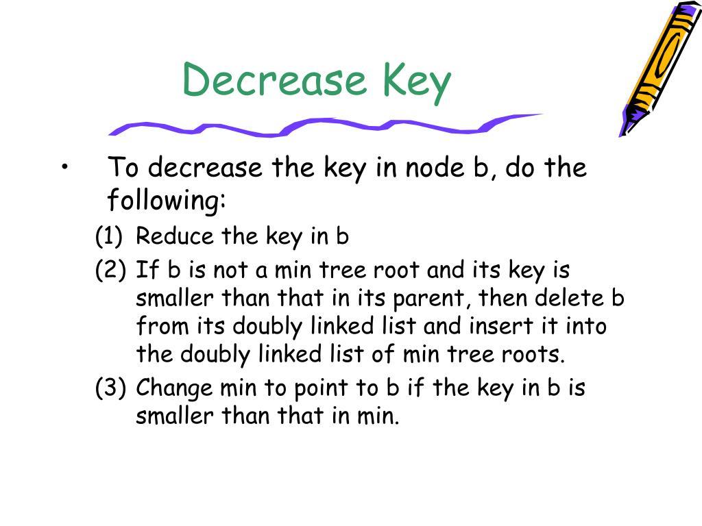 Decrease Key