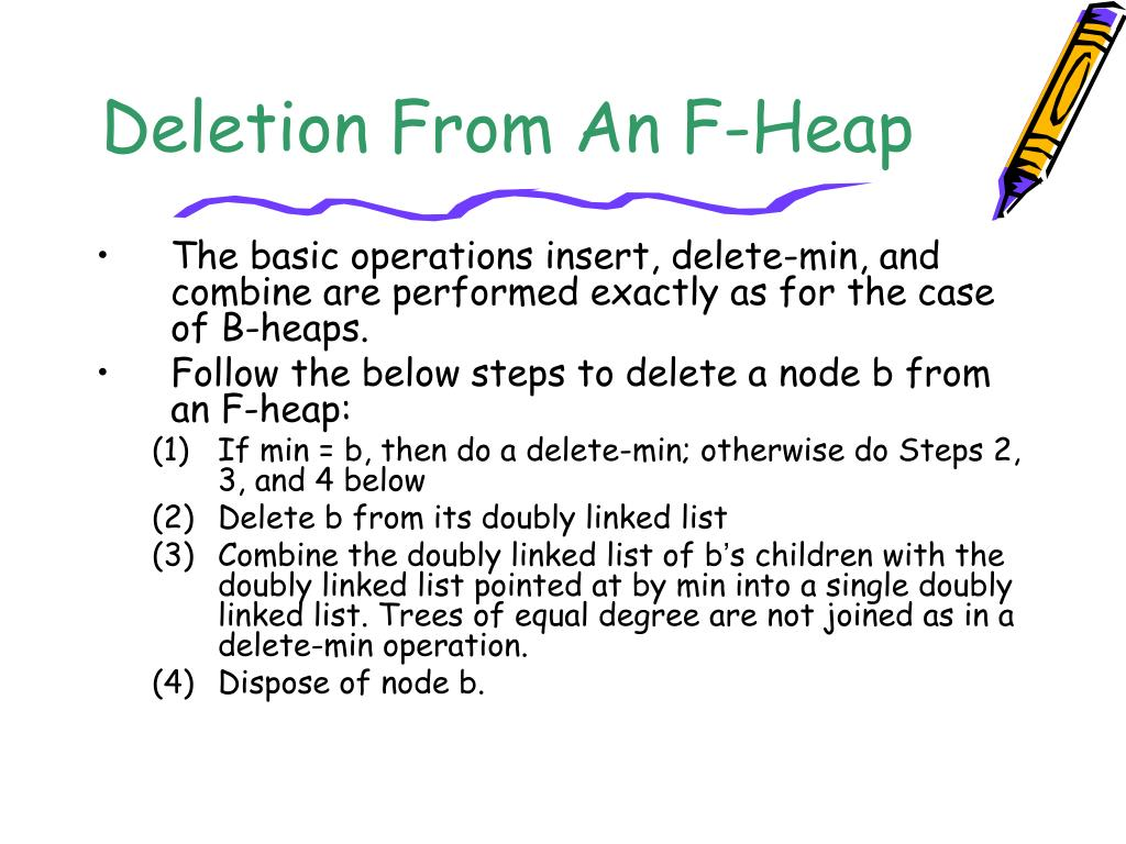 Deletion From An F-Heap