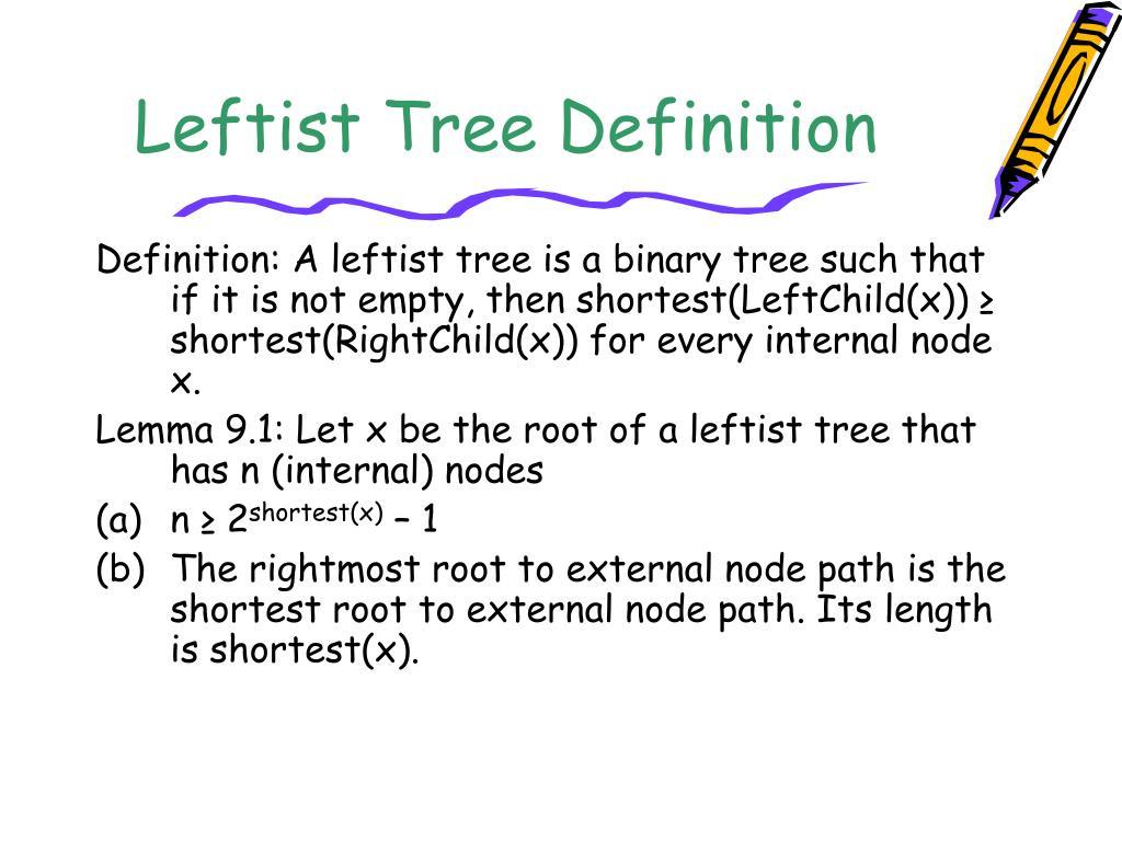 Leftist Tree Definition