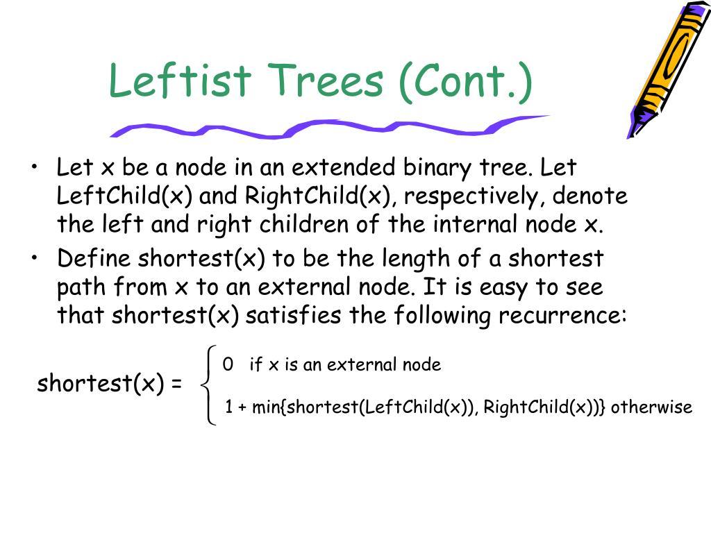 Leftist Trees (Cont.)