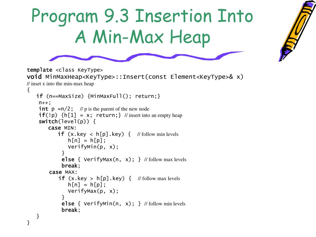 Program 9.3 Insertion Into A Min-Max Heap