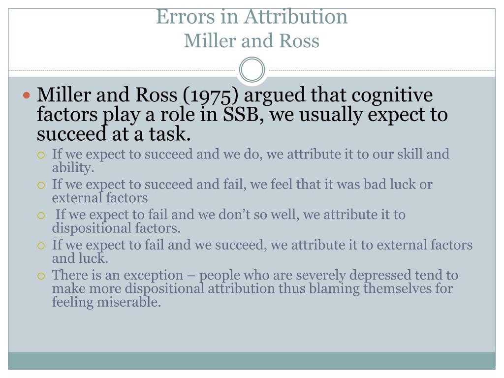 Errors in Attribution