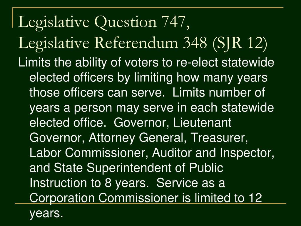 Legislative Question 747,