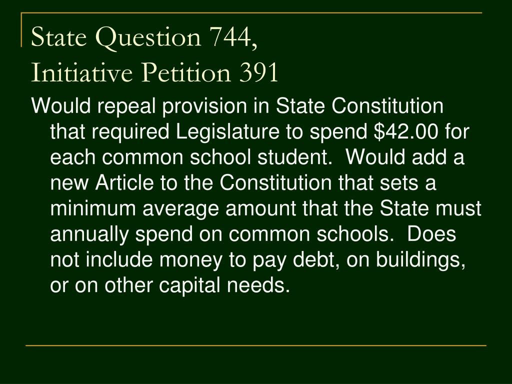 State Question 744,