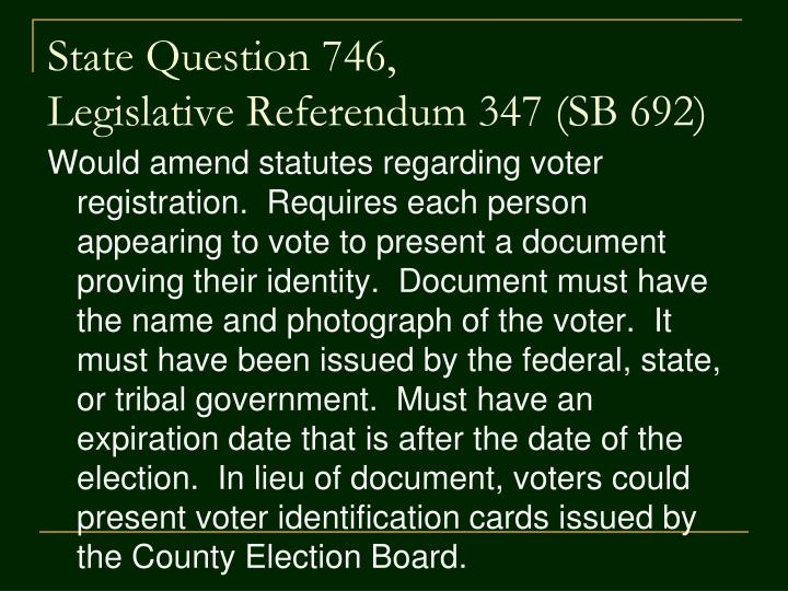 State question 746 legislative referendum 347 sb 692
