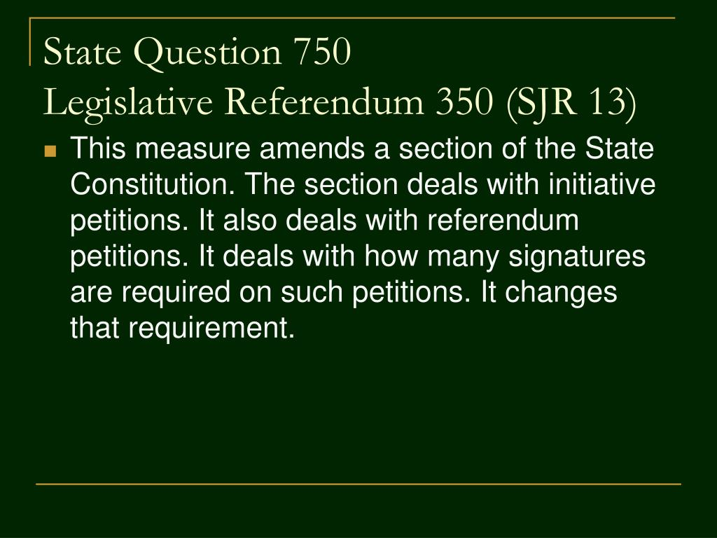 State Question 750