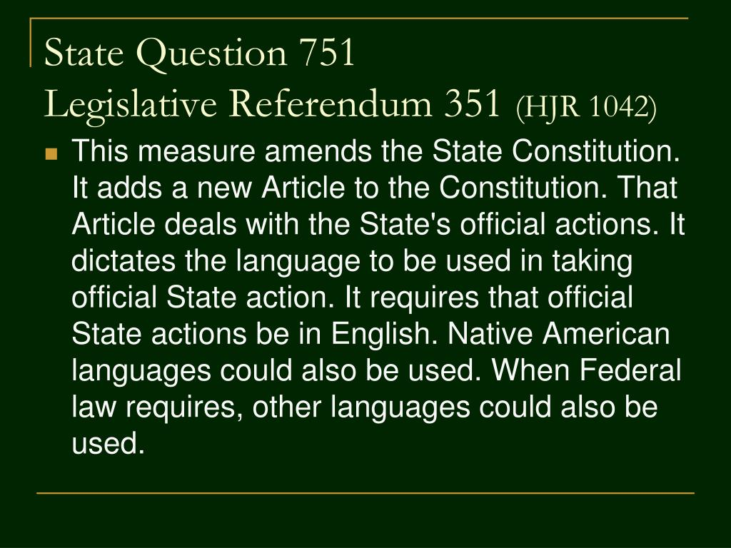 State Question 751
