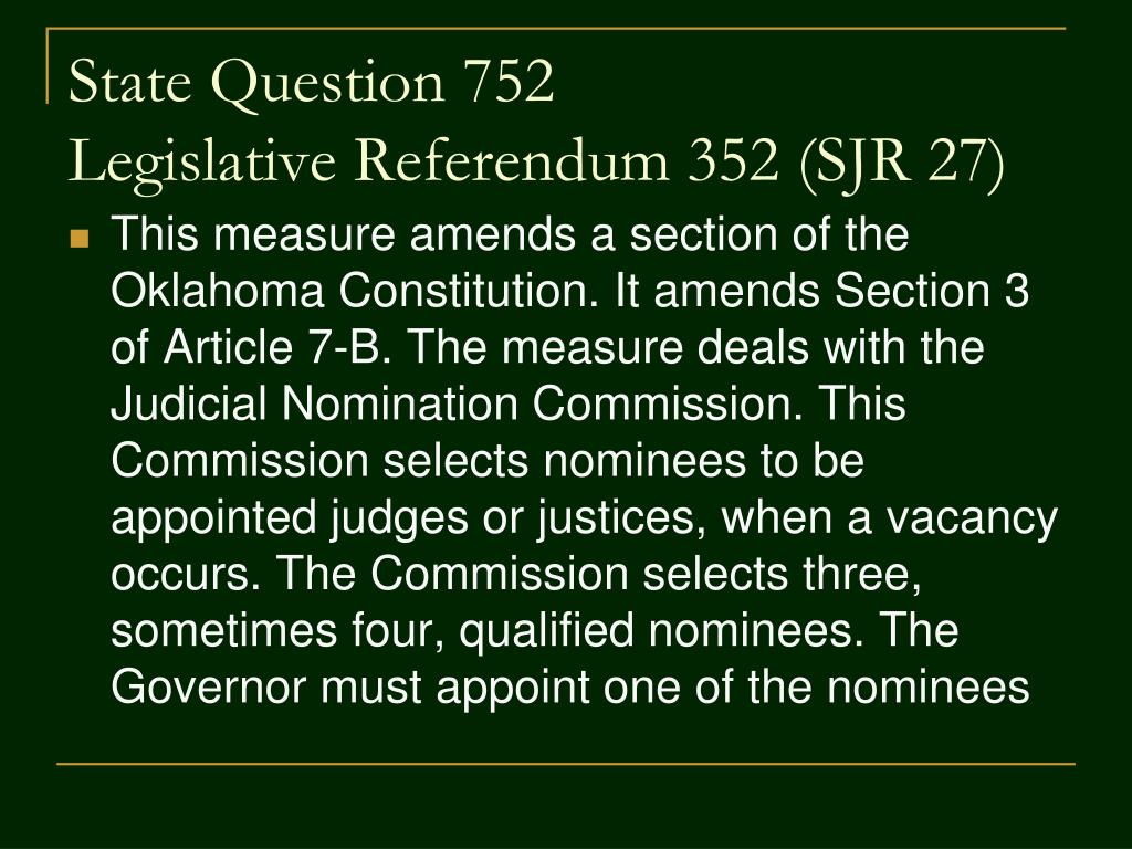 State Question 752