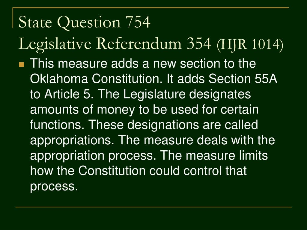 State Question 754