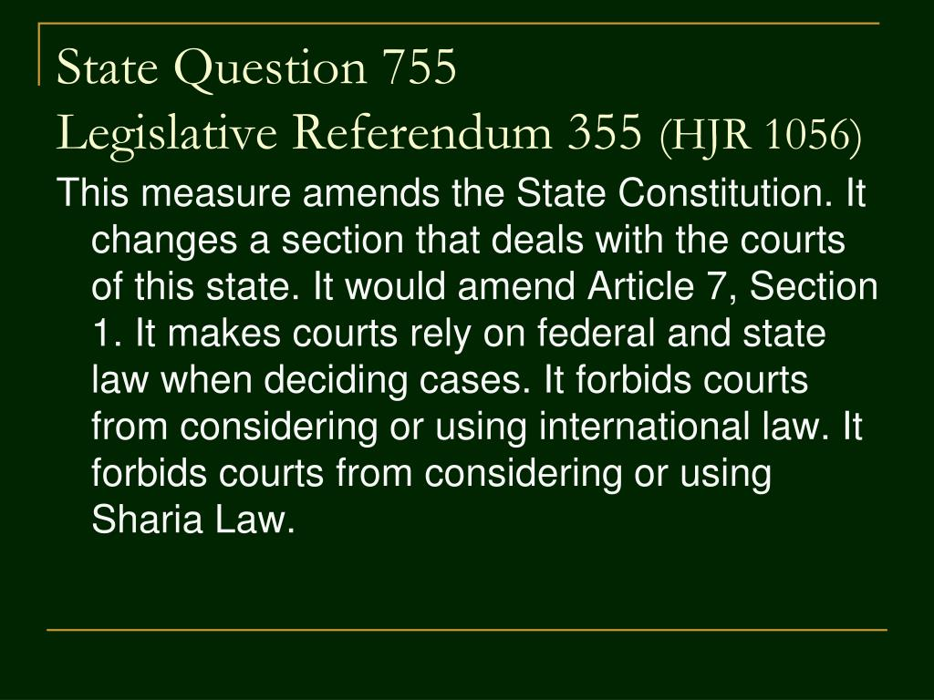 State Question 755