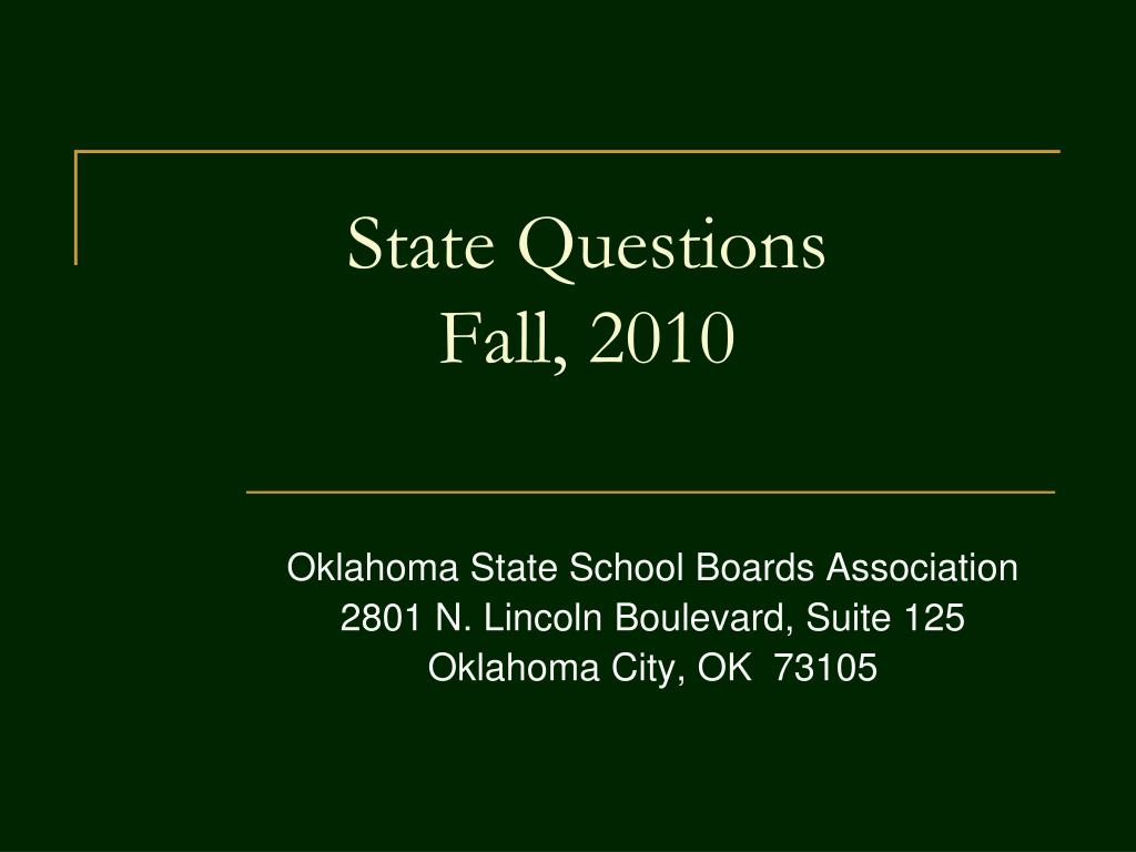 State Questions