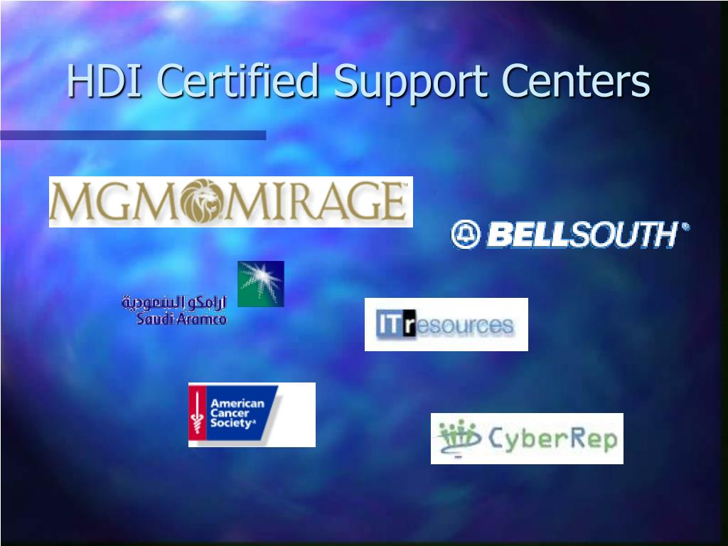 HDI Certified Support Centers