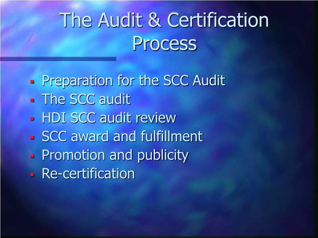 The Audit & Certification Process