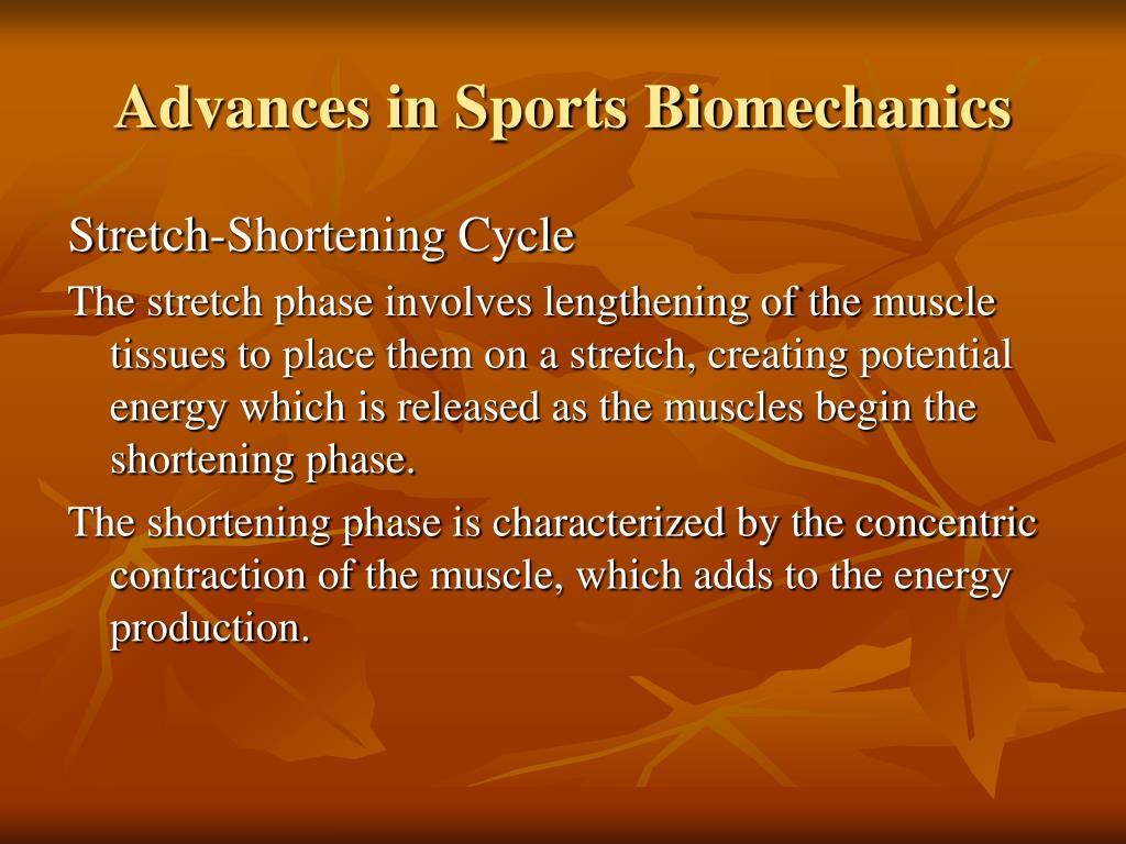 Advances in Sports Biomechanics