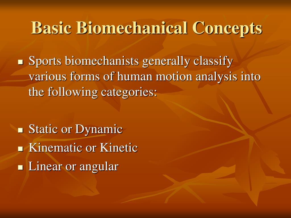 Basic Biomechanical Concepts