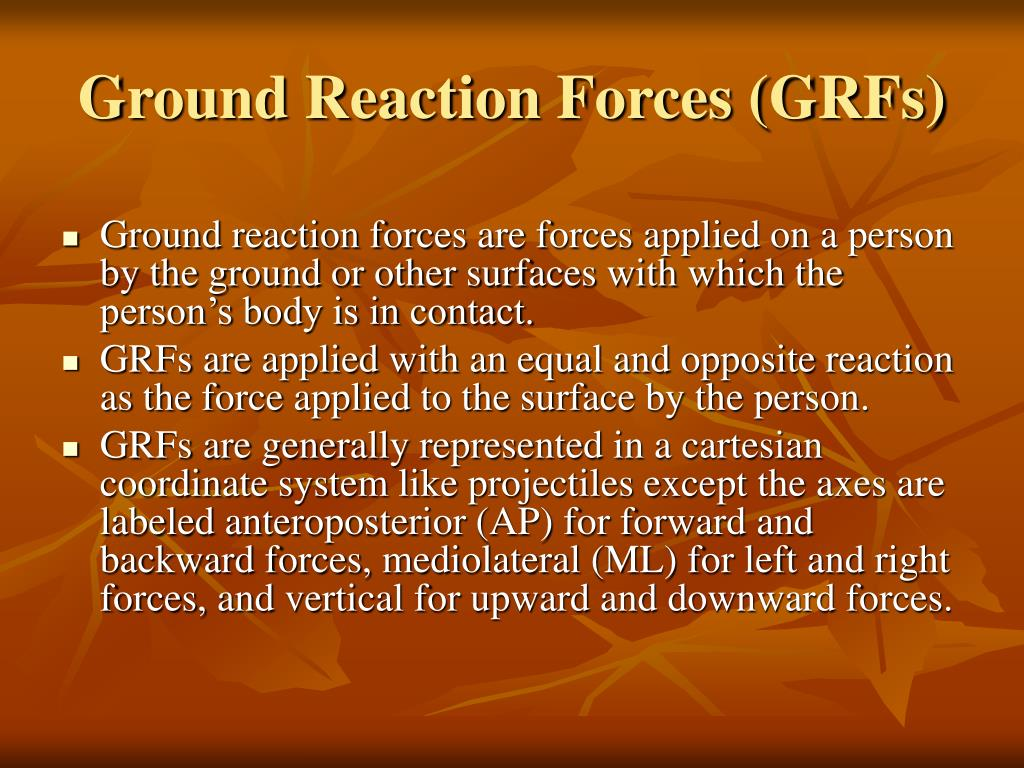 Ground Reaction Forces (GRFs)