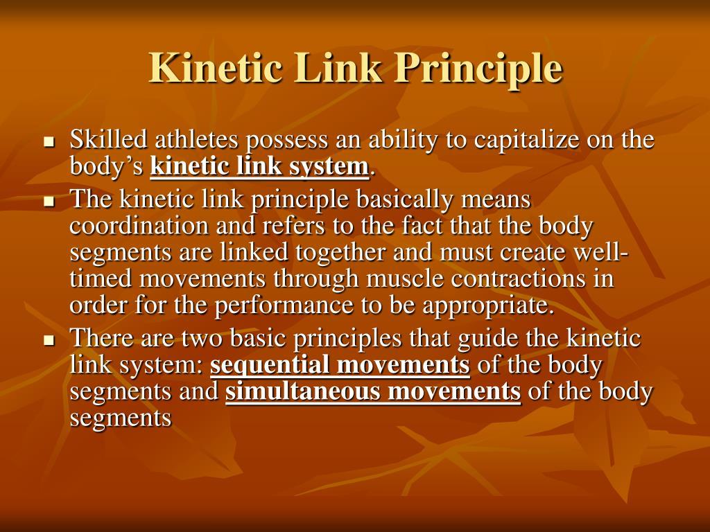 Kinetic Link Principle