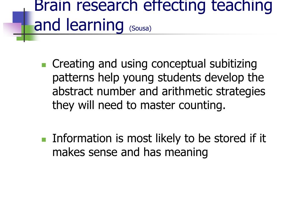 Brain research effecting teaching and learning